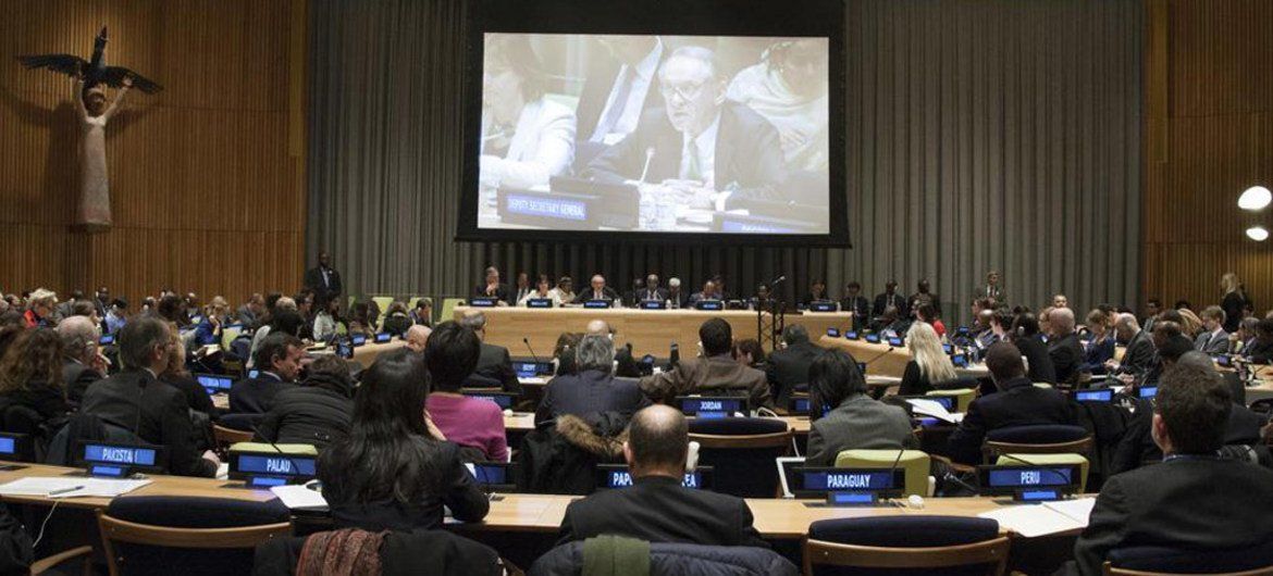 High-Level Thematic Debate on Means of Implementation for a Transformative Post-2015 Development Agenda gets underway at UN Headquarters.