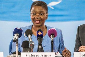 La coordinadora de la Oficina de la ONU para Asuntos Humanitarios, Valerie Amos. Foto: ONU/Isaac Gideon