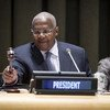 第69届联大主席库泰萨资料图片。联合国图片/Loey Felipe