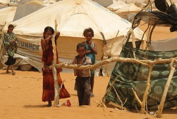 Drought has affected residents of the Mbera refugee camp, Mauritania, in the Sahel region of Africa.