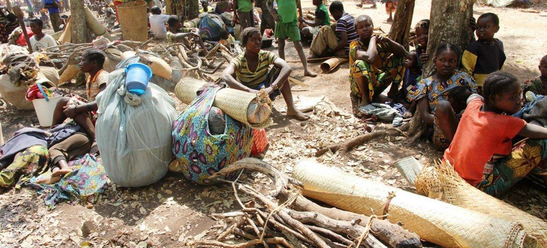 Desplazados en la República Centroafricana. Foto: OCHA/Gemma Cortes