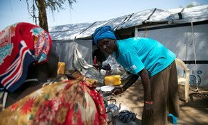 Displaced people at the Protection of Civilians (POC) site in Bor, South Sudan.