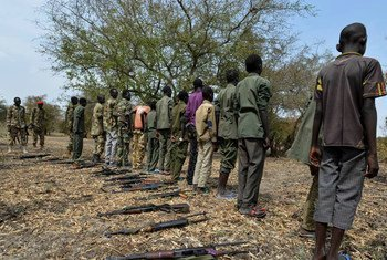 Des enfants soldats démobilisés au Soudan du Sud.