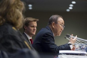 Secretary-General Ban Ki-moon addresses the UNA-USA Members Day.