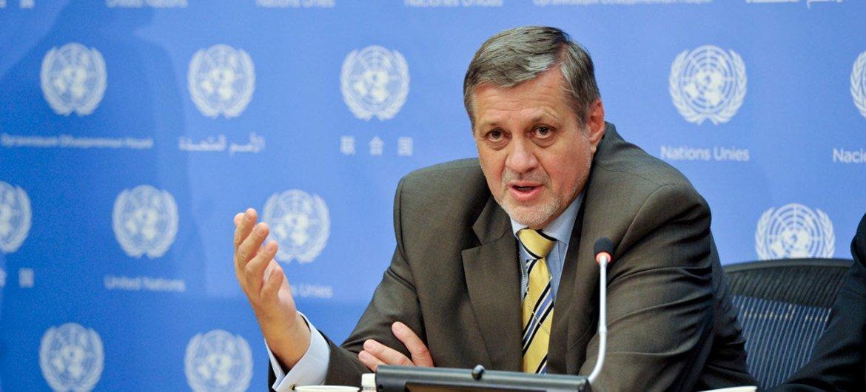 Jan Kubis, representante especial de la ONU para Iraq. Foto de archivo: ONU/Amanda Voisard