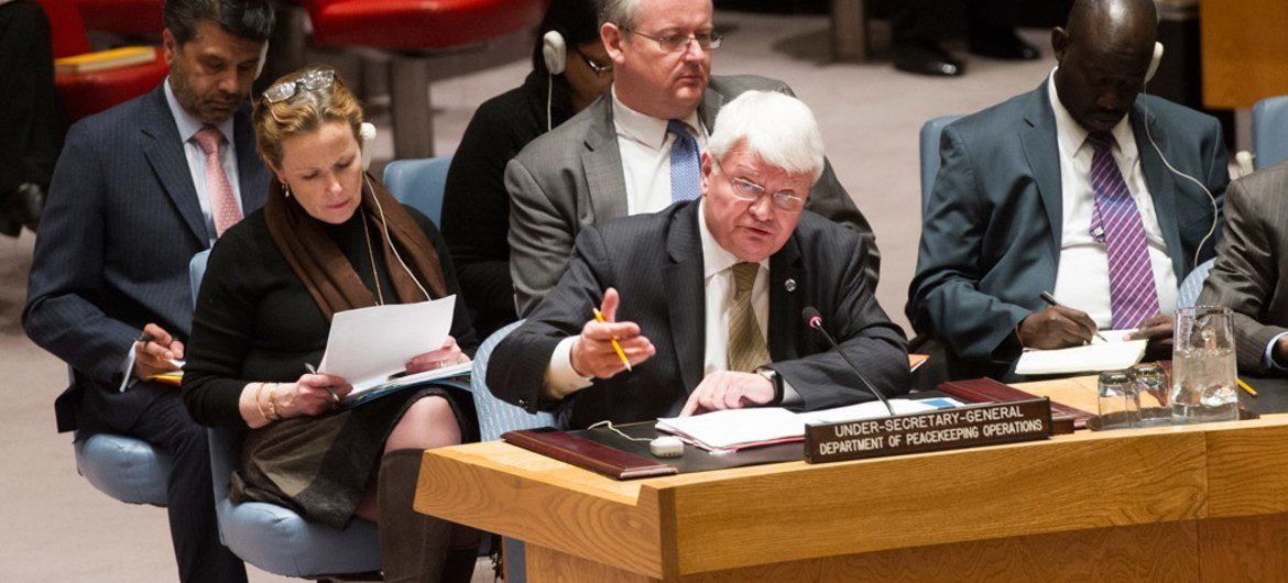 Under-Secretary-General for Peacekeeping Operations, Hervé Ladsous, briefs the Security Council on the situation in South Sudan.