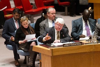 Hervé Ladsous en el Consejo de Seguridad. Foto de archivo: ONU/Mark Garten