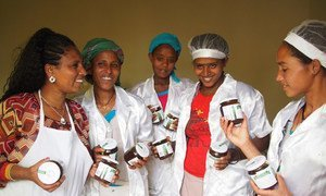 Members of the cooperative of women in Ethiopia whose cactus pear marmalade will soon reach Italian tables.