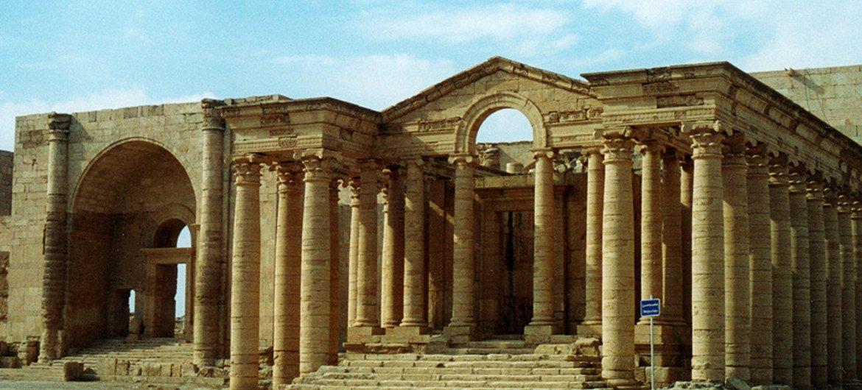 Sitio arqueológico de Hatra. Foto: UNESCO/Véronique Dauge