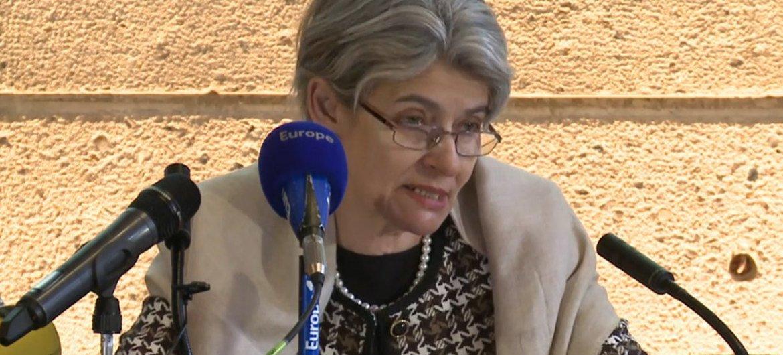 Irina Bokova. Foto: Captura de video UNESCO