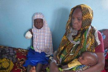 Des Nigérians ayant fui Boko Haram et trouvé refuge au Tchad. Photo  OCHA/Caroline Birch