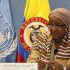 Special Representative of the Secretary-General on Sexual Violence in Conflict Zainab Hawa Bangura briefs the press in Bogotá, Colombia.