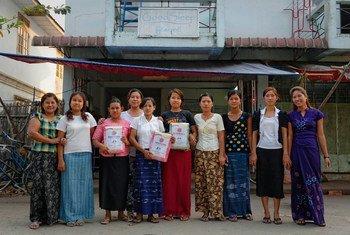 Women entrepreneurs in Myanmar.