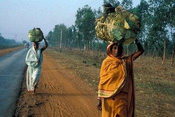 En Inde, des femmes transportent de la nourriture. Photo Banque mondiale/Curt Carnemark