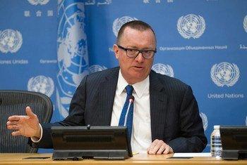 Under-Secretary-General for Political Affairs, Jeffrey Feltman, briefs reporters at UN Headquarters.