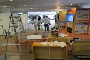 Preparations underway in Sendai, Japan, for of the Third World Conference on Disaster Risk Reduction, which runs from 14-18 March 2015.