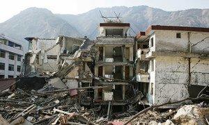 Dégâts causés par un séisme dans la province du Sichuan, en Chine, en 2008. Photo Banque mondiale/Wu Zhiyi