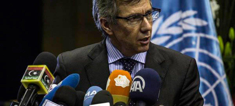 Le Représentant spécial du Secrétaire général de l'ONU pour la Libye, Bernardino Léon. Photo : MANUL