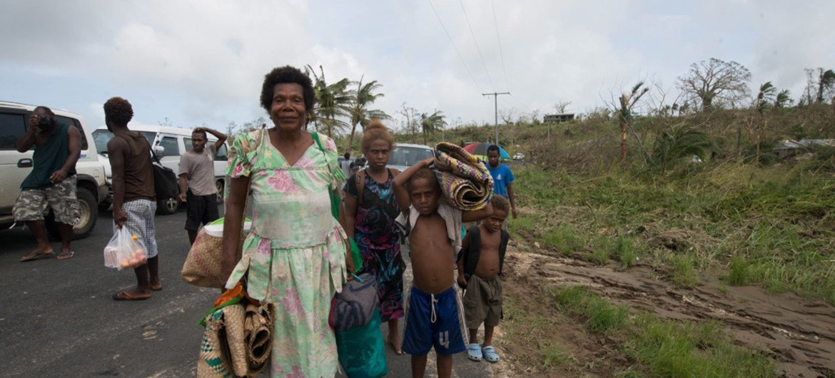 Tens of thousands of children are in urgent need of assistance in Vanuatu after Cyclone Pam ripped through the country.