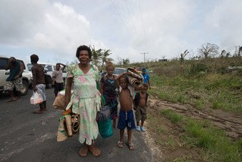 Población desplazada por el ciclón Pam en Vanuatu. Foto: UNICEF Pacific