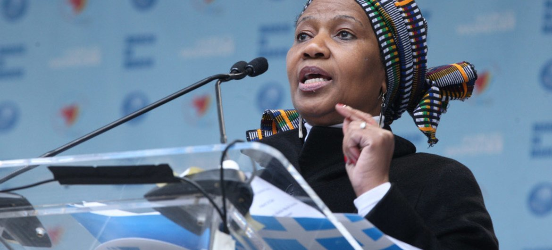 La Directrice exécutive d'ONU-Femmes, Phumzile Mlambo-Ngcuka. Photo ONU/Devra Berkowitz (archives)