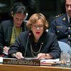 Special Representative of the Secretary-General for Haiti and head of the UN Stabilization Mission in the country (MINUSTAH), Sandra Honoré, briefs the UN Security Council.