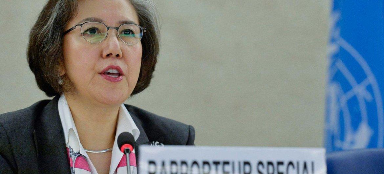 La Rapporteuse spéciale sur la situation des droits de l'homme au Myanmar, Yanghee Lee. Photo ONU/Jean-Marc Ferré