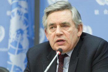 Special Envoy for Global Education, Gordon Brown, briefs the press.