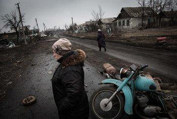 乌克兰东部的景象。难民署图片/Andrew McConnell
