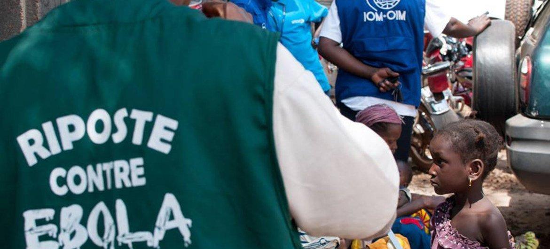 Ebola caregivers in Guinea.