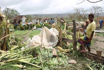 Destrozos del ciclón Pam en Vanuatu. Foto: UNICEF/Gaelle Sevenier