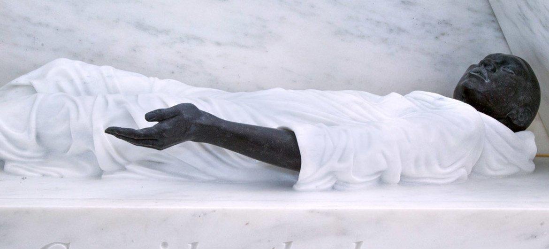 Le mémorial sur l'héritage de l'esclavage au siège de l'ONU à New York.
