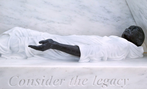 Memorial sobre legado da escravatura na sede da ONU em Nova Iorque
