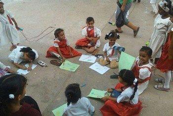 Des enfants dans une école à Aden, au Yémen. Photo UNICEF Yémen