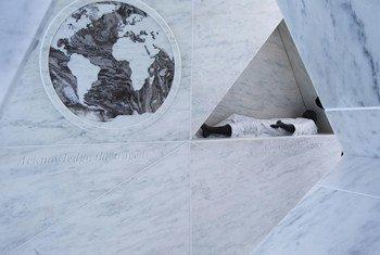 Le mémorial sur l'héritage de l'esclavage au siège de l'ONU à New York. Photo : ONU/Devra Berkowitz