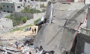 House demolished in Gaza following Israeli airstrike in 2012.