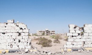 Damage caused by fighting in Abyan Governorate, southern Yemen (file photo)