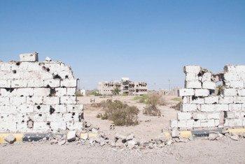 Des dégâts causés par des combats dans le gouvernorat d'Abyan, au sud du Yémen. Photo OCHA/Eman (archives)