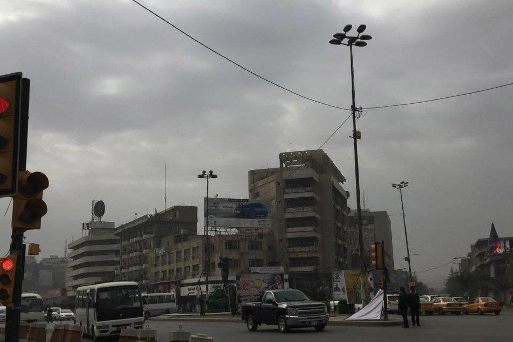 من شوارع بغداد، العراق.