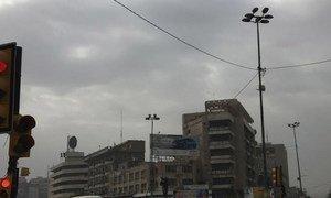 Street scene in Baghdad, Iraq.