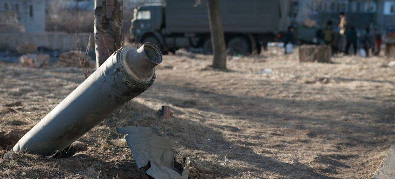 乌克兰东部许多地区遭到炮轰。儿基会驻乌克兰办事处图片
