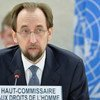 High Commissioner for Human Rights Zeid Ra'ad Al Hussein addresses a special session of the Human Rights Council on Boko Haram.
