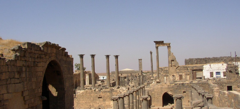 La ville antique de Bosra, en Syrie.