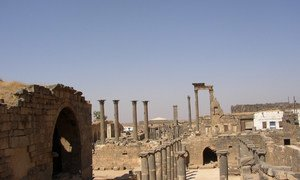 The ancient city of Bosra, Syria.