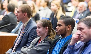 """Participants at the special event on the theme, """"Employment: The Autism Advantage"""", held at UN headquarters."""