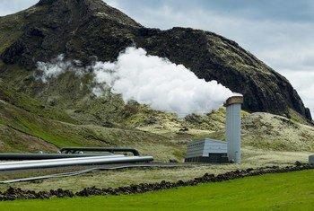 Planta generadora de electricidad en Islandia. Foto de archivo: ONU/Eskinder Debebe