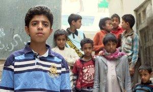 也门日益增加的暴力正在对儿童造成难以承受的影响。儿基会照片