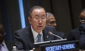 Secretary-General Ban Ki-moon delivers opening remarks to the General Assembly's Informal Interactive Hearing for the Third International Conference on Financing for Development.