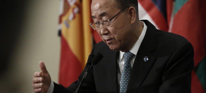潘基文秘书长资料图片。 联合国图片/Evan Schneider
