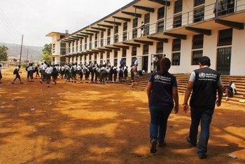 Niños en Sierra Leona vuelven a la escuela tras crisis del ébola. Foto: OMS/N. Alexander